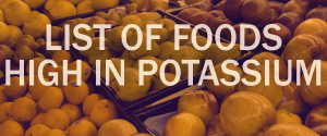 list of foods high in potassium